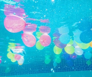 balloons, pool, and water image