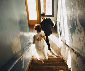 couples, husband, and white dress image