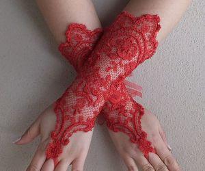 etsy, weddings, and bridal glove image