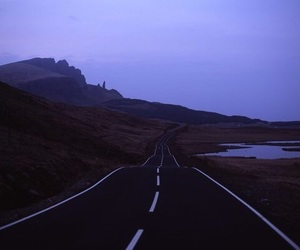 road, grunge, and sky image
