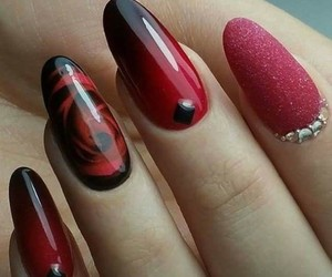 diy, nail, and red image