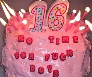 pink, cake, and grunge image