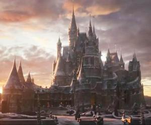 beauty and the beast, castle, and disney image