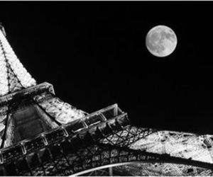 paris, moon, and night image