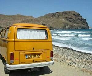 yellow, beach, and aesthetic image
