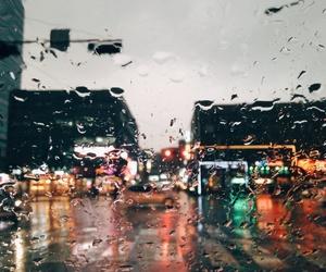city, rain, and indie image