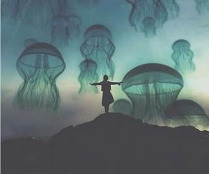 art, jellyfish, and nature image