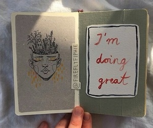 art, journal, and inspiration image