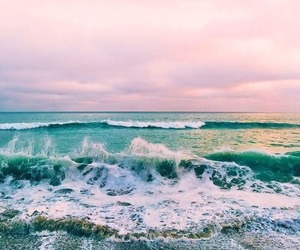 sea, ocean, and beach image