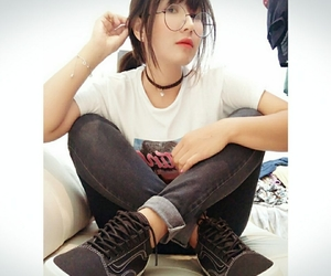 asia, shoes, and girl image
