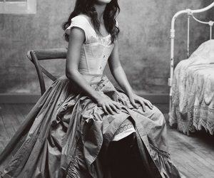 black and white, celebrities, and keira image