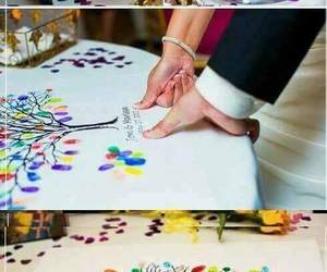 marriage, wedding, and decoration image