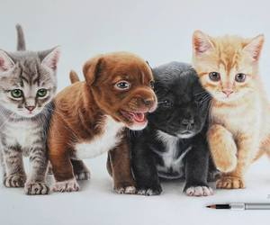 art, baby animals, and cute animals image