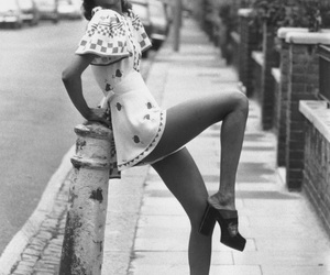 black and white, fashion, and vintage image