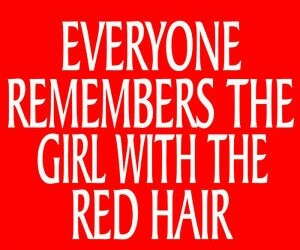 girl, quote, and red hair image
