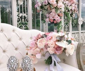 shoes, beautiful, and bouquet image