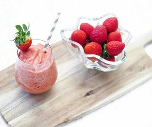 strawberry, healthy, and food image