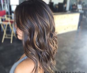 hair ideas, medium hair, and balayage image