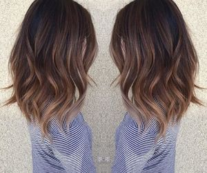 hair, ideas, and ombre balayage image