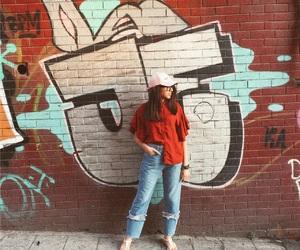 blogger, cap, and fashion image