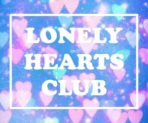 background, blue, and hearts image