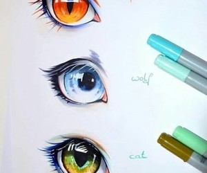 eyes, animal, and art image