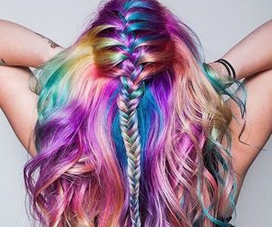 hairstyle, rainbowhair, and feshfen image