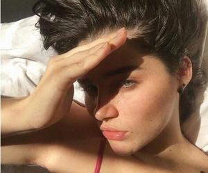 brunette, eyes, and freckles image