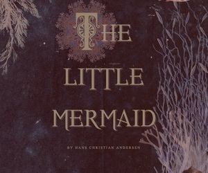 the little mermaid and book image