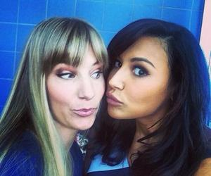 glee, naya rivera, and heather morris image