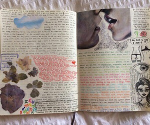 book, art, and diary image