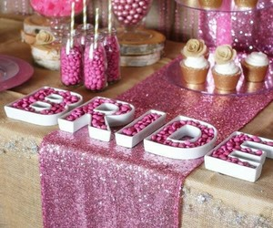 candy, party, and pink image