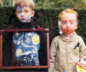 art, van gogh, and kids image