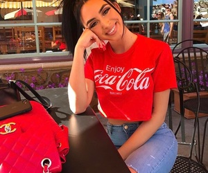 girl, coca cola, and style image