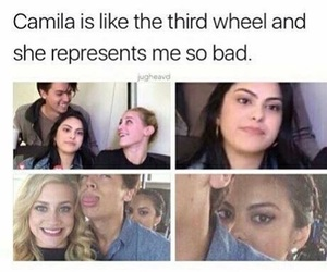 cole sprouse, lili reinhart, and camila mendes image
