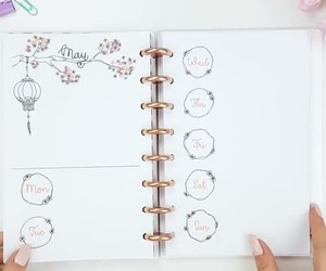 note, notebook, and planner image