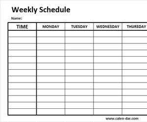 weekly planner, blank weekly calendar, and weekly calenda image