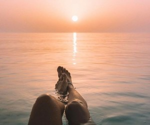 summer, sunset, and photography image