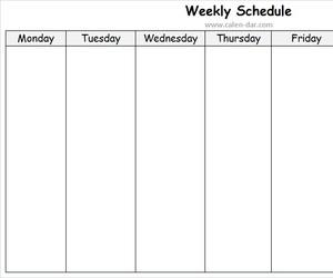 weekly planner, weekly schedule, and weekly calendar template image