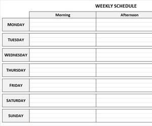 weekly planner, weekly schedule, and weekly calendar image