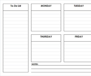 weekly planner, weekly schedule, and weekly calendar image