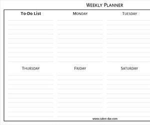 weekly schedule and weekly schedule tumblr image