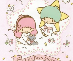 sanrio, wallpaper, and little twin stars image