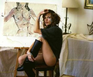 art, Milla Jovovich, and painting image