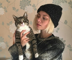 cat, girl, and nina nesbitt image