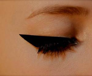 dior, eye liner, and face image