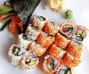food, sushi, and orange image