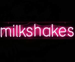 neon, milkshake, and pink image