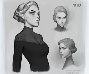 sketch, viktoria gavrilenko, and acotar image