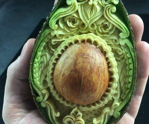 art, avocado, and carving image